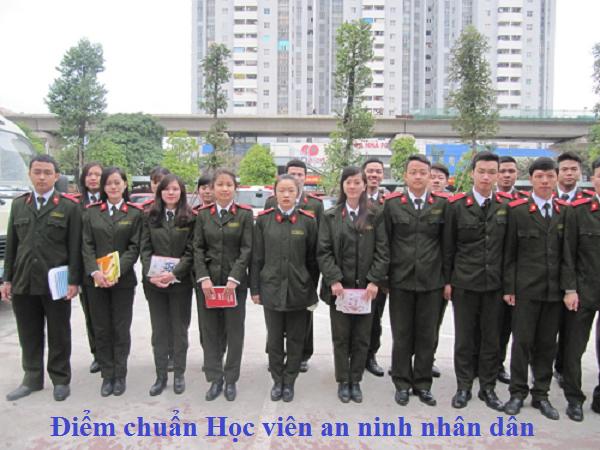Điểm chuẩn học viện an ninh nhân dân