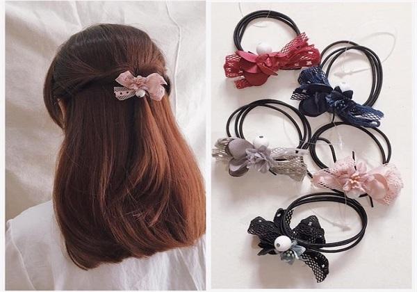 Sử dụng dây buộc tóc mềm
