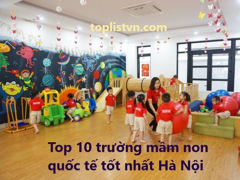 Top 10 trường mầm non quốc tế tốt nhất Hà Nội